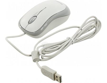Мышь проводная Microsoft Basic, 1000dpi, Белый P58-00060