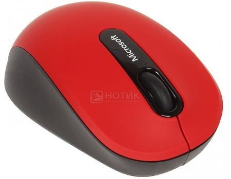 Фотография товара мышь беспроводная Microsoft Mobile 3600, 1000dpi, Bluetooth, Красный PN7-00014 (48755)