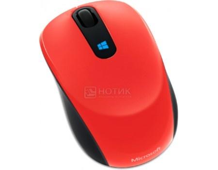 Мышь беспроводная Microsoft Sculpt Mobile, 1000dpi, Wireless, Красный 43U-00026