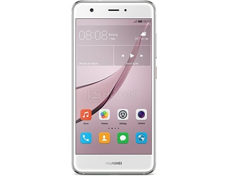 Смартфон Huawei Nova 32Gb Silver (Android 6.0 (Marshmallow)/MSM8953 2000MHz/5.0 1920x1080/3072Mb/32Gb/4G LTE  ) [51090XLA] смартфон sony xperia x compact white android 6 0 marshmallow msm8956 1800mhz 4 6 1280x720 3072mb 32gb 4g lte [f5321white]
