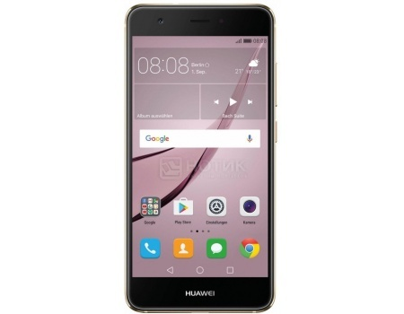 Смартфон Huawei Nova 32Gb Gold (Android 6.0 (Marshmallow)/MSM8953 2000MHz/5.0 1920x1080/3072Mb/32Gb/4G LTE  ) [51090XKY] смартфон sony xperia x compact white android 6 0 marshmallow msm8956 1800mhz 4 6 1280x720 3072mb 32gb 4g lte [f5321white]