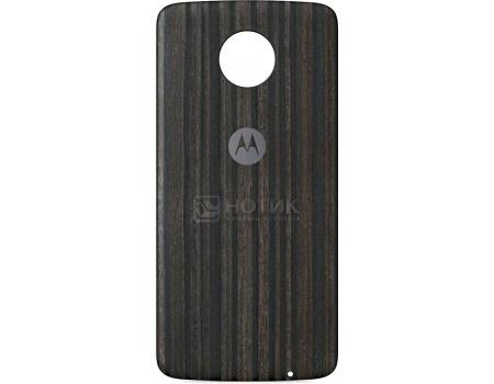 Купить чехол-накладка Motorola для Moto Z/ Z Play Style Shell Moto Mod Charcoal Ash Wood ASMCAPCHAHEU, Дерево, Темно-серый (48782) в Москве, в Спб и в России