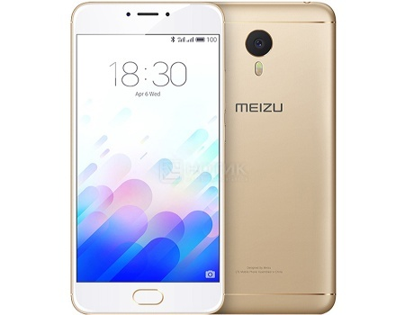 Смартфон Meizu M3E 32 Gold (Android 6.0 (Marshmallow)/MT6755 1800MHz/5.5 1920x1080/3072Mb/32Gb/4G LTE ) [A680H-32-GOWH]
