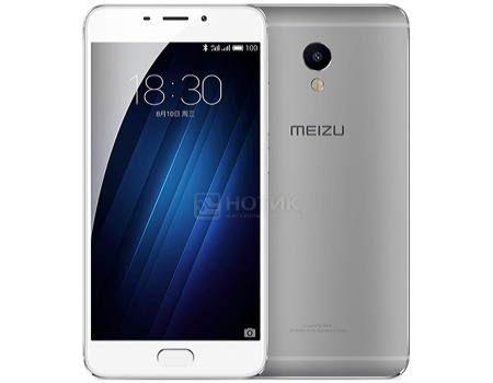 Смартфон Meizu M3E 32 Silver (Android 6.0 (Marshmallow)/MT6755 1800MHz/5.5