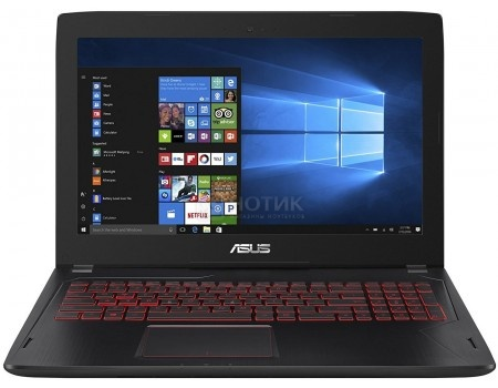 Фотография товара ноутбук ASUS FX502VM-DM105T (15.6 TN (LED)/ Core i7 6700HQ 2600MHz/ 8192Mb/ HDD 1000Gb/ NVIDIA GeForce® GTX 1060 3072Mb) MS Windows 10 Home (64-bit) [90NB0DR5-M01870] (48902)