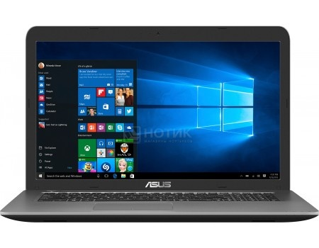 Ноутбук ASUS X756UQ-TY122T (17.3 LED/ Core i5 6200U 2300MHz/ 6144Mb/ HDD 1000Gb/ NVIDIA GeForce GT 940MX 2048Mb) MS Windows 10 Home (64-bit) [90NB0C33-M01350]