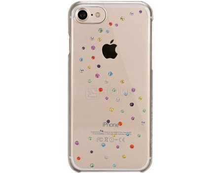 Чехол-накладка Bling My Thing, Milky Way Cotton Candy для iPhone 7/iPhone 8 с кристаллами Swarovski, ip7-mw-cl-ccd, Поликарбонат, Прозрачный