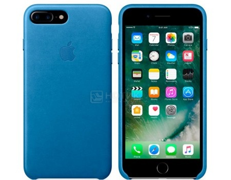 Чехол-накладка Apple Leather Case Sea Blue для iPhone 7 Plus MMYH2ZM/A, Кожа, Синий