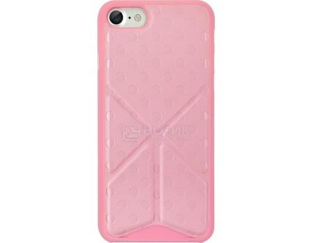 Чехол-накладка для iPhone 7 Plus Ozaki 0.4 Totem Versatile OC745PK, Полиуретан, Розовый