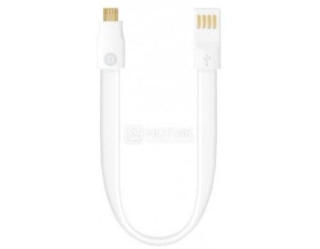 Кабель Deppa 72159, USB - microUSB, 0.23м, Белый
