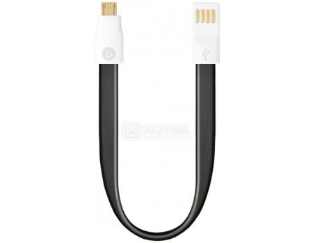 Кабель Deppa 72160, USB - microUSB, 0.23м, Черный