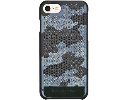 Чехол-накладка Bling My Thing, Vogue Camouflage Monochrome Grayscale Camo для iPhone 7 с кристаллами Swarovski, ip7-vg-bkm-bkm, Пластик, Черный от Нотик