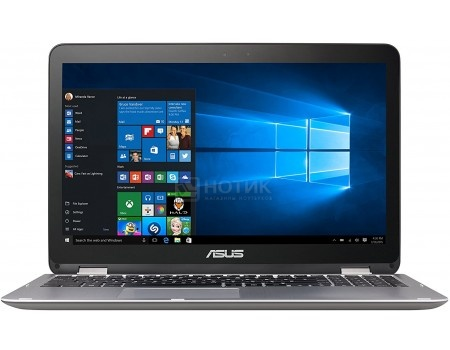 Ноутбук ASUS VivoBook Flip TP501UA-CJ116T (15.6 LED/ Core i5 6200U 2300MHz/ 4096Mb/ HDD 1000Gb/ Intel HD Graphics 520 64Mb) MS Windows 10 Home (64-bit) [90NB0AI1-M01660]ASUS<br>15.6 Intel Core i5 6200U 2300 МГц 4096 Мб DDR3-1600МГц HDD 1000 Гб MS Windows 10 Home (64-bit), Черный<br>