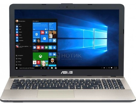 Ноутбук ASUS X541SC-XXO34T (15.6 LED/ Pentium Quad Core N3710 1600MHz/ 4096Mb/ HDD 500Gb/ NVIDIA GeForce GT 810M 1024Mb) MS Windows 10 Home (64-bit) [90NB0CI1-M01260]