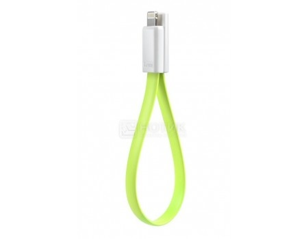 Кабель Deppa 72171, USB - Lightning 8-pin, 0.23м, Зеленый
