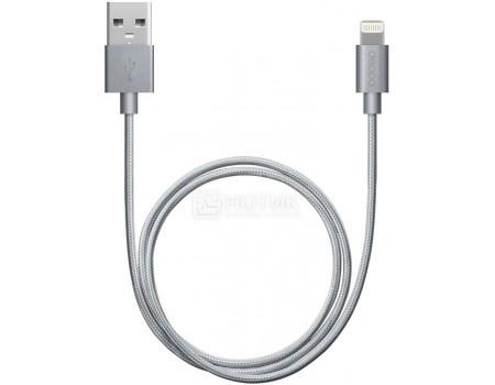 Купить кабель Deppa 72189 MFI, USB - Lightning 8-pin, алюминий/нейлон, 1.2м, Серый (49052) в Москве, в Спб и в России