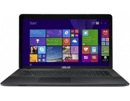 Ноутбук ASUS X751SA-TY165T (17.3 LED/ Pentium Quad Core N3710 1600MHz/ 4096Mb/ HDD 500Gb/ Intel HD Graphics 405 64Mb) MS Windows 10 Home (64-bit) [90NB07M1-M03120]