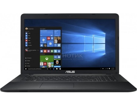 Ноутбук ASUS X751SV-TY008T (17.3 LED/ Pentium Quad Core N3710 1600MHz/ 4096Mb/ HDD 500Gb/ NVIDIA GeForce GT 920MX 1024Mb) MS Windows 10 Home (64-bit) [90NB0BR1-M00140]