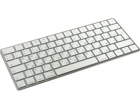 Клавиатура беспроводная Apple Magic Keyboard, Bluetooth, Белый/ Серебристый MLA22RU/A, арт: 49061 - Apple