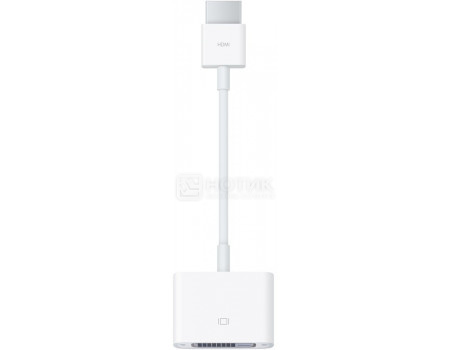 Кабель Apple HDMI to DVI Adapter Cable, Белый, MJVU2ZM/A