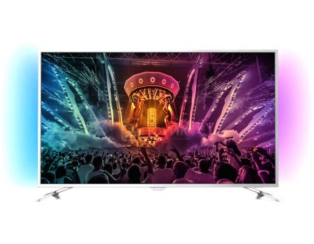 Телевизор Philips 49PUS6501/60, UHD, SmartTV, Android TV, Серебристый телевизор philips 49pus7100