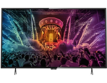 Телевизор Philips 55PUT6101/60 , UHD, SmartTV, Черный телевизор philips 32pft4100
