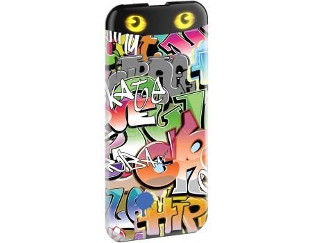 Внешний аккумулятор HIPER PowerBank EP6600 Graffiti, 2.1A, 1xUSB, 6600 мАч, Рисунок