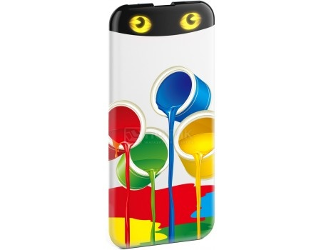 Внешний аккумулятор HIPER PowerBank EP6600 Rainbow, 2.1A, 1xUSB, 6600 мАч, Рисунок от Нотик