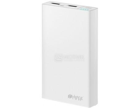 Внешний аккумулятор HIPER PowerBank RP12500 White, 2.1A/1A, 2xUSB, 12500 мАч, Белый