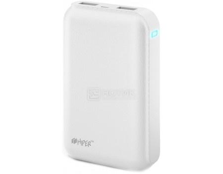 Внешний аккумулятор HIPER PowerBank SP7500 White, 5V, 2.1A/1A, 2xUSB, 7500 мАч, Белый