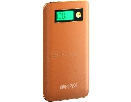 Внешний аккумулятор HIPER PowerBank XPX6500 Brown, 5V, 2.1A, 2xUSB, 6500 мАч, Коричневый