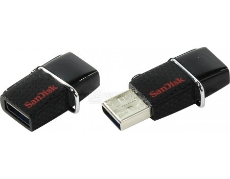 Фотография товара флешка SanDisk 64Gb Ultra Dual SDDD2-064G-GAM46 USB3.0/microUSB, Черный (49135)