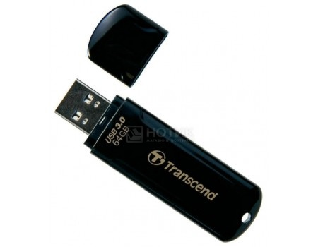 Флешка Transcend 64Gb JetFlash 700 TS64GJF700, USB 3.0 Черный