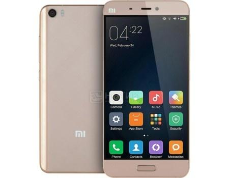 Смартфон Xiaomi Mi 5 32Gb Gold (Android 6.0 (Marshmallow)/MSM8996 1800MHz/5.1 (1920x1080)/3072Mb/32Gb/4G LTE 3G (EDGE, HSDPA, HSPA+)) [Mi 5 32Gb Gold]