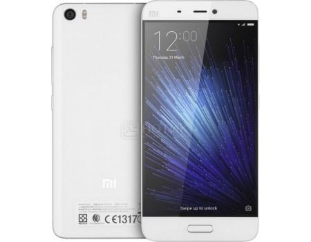 Смартфон Xiaomi Mi 5 64Gb White (Android 6.0 (Marshmallow)/MSM8996 2150MHz/5.1 (1920x1080)/3072Mb/64Gb/4G LTE 3G (EDGE, HSDPA, HSPA+)) [Mi 5 64Gb White]