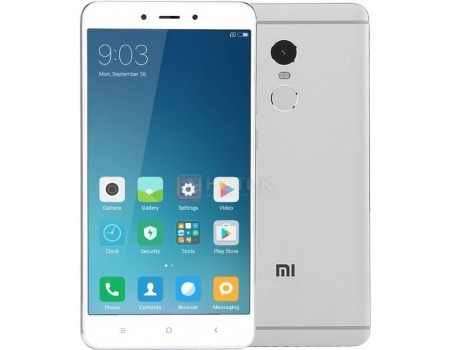 Смартфон Xiaomi Redmi Note 4 64Gb Silver (Android 6.0 (Marshmallow)/MT6797 2100MHz/5.5