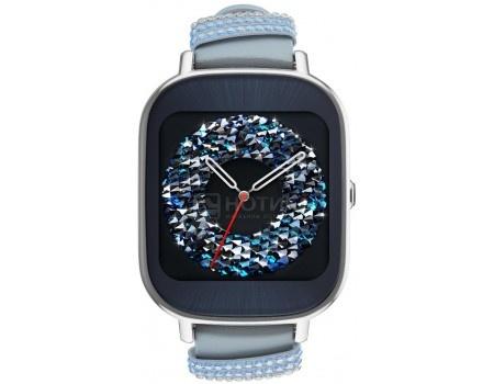 Смарт-часы ASUS ZenWatch 2 WI502Q Blue, Синий 90NZ003A-M01320 WI502Q-1LSVK0012 (голубой кожаный ремешок со стразами Swarovski) 90NZ003A-M013
