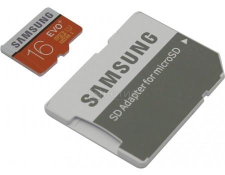 Карта памяти Samsung microSDXC 16GB EVO Plus UHS-I + SD адаптер MB-MC16DA/RU