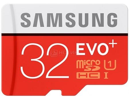Карта памяти Samsung microSDXC 32GB EVO Plus UHS-I + SD адаптер MB-MC32DA/RU