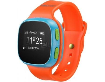 Фотография товара смарт-часы Alcatel Move Time Track and Talk SW10, Оранжевый/Голубой (49202)
