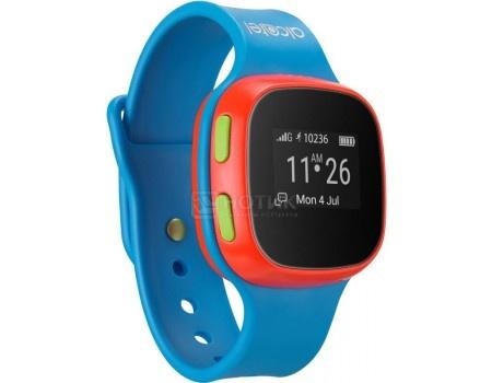 Фотография товара смарт-часы Alcatel Move Time Track and Talk SW10, Голубой/Красный (49203)