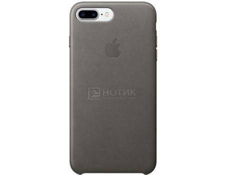 Чехол-накладка Apple Leather Case Storm Gray для iPhone 7 Plus MMYE2ZM/A, Кожа, Серый