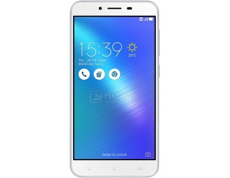 Смартфон ASUS Zenfone 3 Max ZC553KL-4J027RU Glacier Silver (Android 6.0 (Marshmallow)/MSM8937 1400MHz/5.5