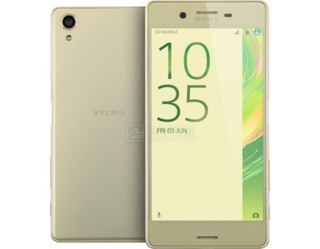 Смартфон Sony Xperia X Dual Lime Gold (Android 6.0 (Marshmallow)/MSM8956 1800MHz/5.0 1920x1080/3072Mb/64Gb/4G LTE  ) [F5122Lime_Gold] смартфон sony xperia xa ultra lime gold android 6 0 marshmallow mt6755 2000mhz 6 0 1920x1080 3072mb 16gb 4g lte [f3211lime gold]
