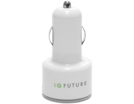 Автомобильное ЗУ iQFuture 2xUSB IQ-DCC01/W Белый
