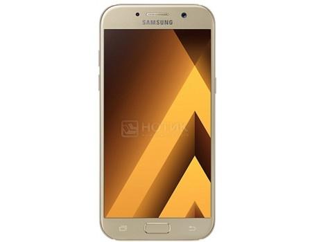 Смартфон Samsung Galaxy A5 2017 SM-A520F Gold (Android 6.0 (Marshmallow)/7880 1900MHz/5.2* 1920x1080/3072Mb/32Gb/4G LTE ) [SM-A520FZDDSER], арт: 49429 - Samsung