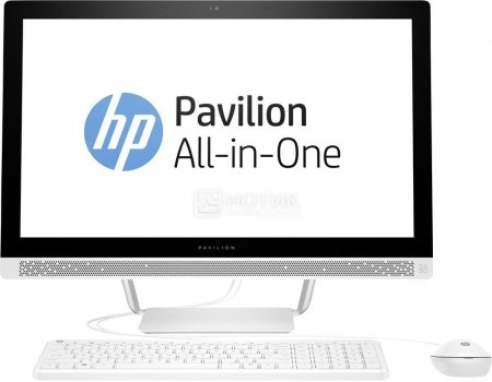 Моноблок HP Pavilion 24-b235ur (23.8 IPS (LED)/ Core i3 7100T 3400MHz/ 4096Mb/ Hybrid Drive 1000Gb/ Intel HD Graphics 630 64Mb) Free DOS [1AW63EA]