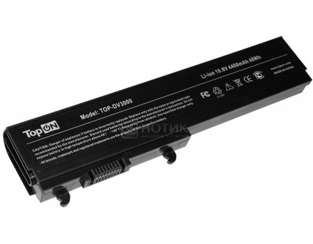 цены  Аккумулятор TopON TOP-DV3000 для HP Pavilion dv3000 Series, dv3100 Series, dv3500 - 10.8V 4400mAh