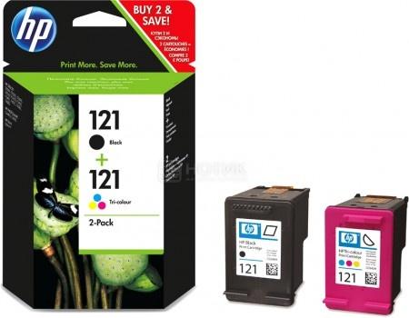 Картридж струйный HP 121 CN637HE для HP DJ D2500/ D2530/ F4200 Набор картриджей черный/трехцветный CN637HE