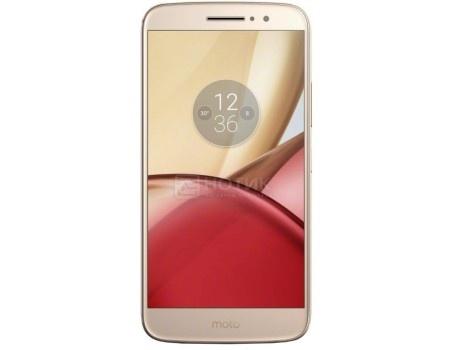 Смартфон Motorola Moto M XT1663 32Gb Gold (Android 6.0 (Marshmallow)/MT6750 1950MHz/5.5 1920x1080/3072Mb/32Gb/4G LTE ) [PA5D0072RU] смартфон sony xperia x compact white android 6 0 marshmallow msm8956 1800mhz 4 6 1280x720 3072mb 32gb 4g lte [f5321white]